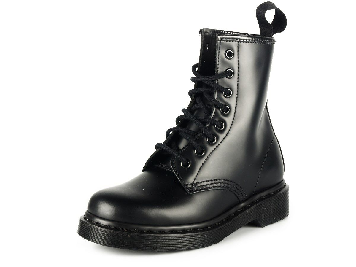 5b11ed20 Women's Dr Martens 1460 Mono 8 Eye Lace Up Boot All Black Smooth фото