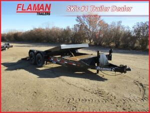 Diamond C 20' Tilting Flatdeck Trailer - 2x 7000 lb Axles!