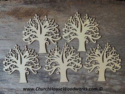 5 qty 5 inch Wood Tree Shapes - Set DIY Craft Idea- Wooden Craft Supplies Trees](Craft Idea)