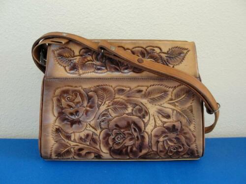 Vintage Tooled Leather Purse Boho Western