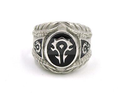 WoW Logo Ring Siegelring Fingerring Horde Orcs Tauren Blutelfen Cosplay