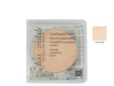 Jane Iredale PurePressed Base Mineral Foundation SPF20 Refill - Natural -NEW