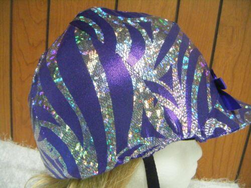 Hunt Helmet Cover Black Purple Silver Scroll Print