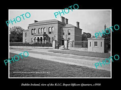 OLD 6 X 4 HISTORIC PHOTO OF DUBLIN IRELAND, THE RIC POLICE OFFICERS DEPOT c1910