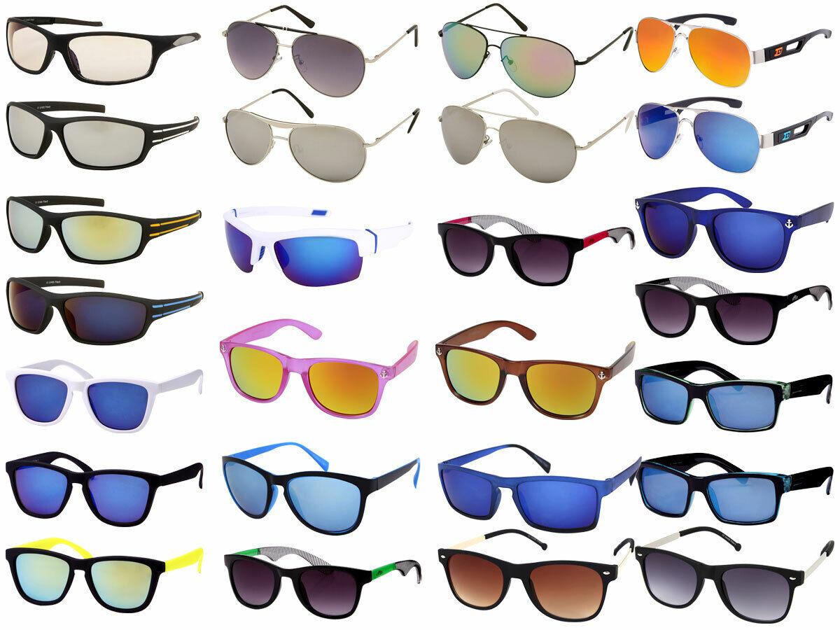 Viper Sonnenbrille Retro Damen Herren Sport Pilotenbrille verspiegelt