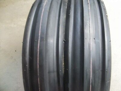 Two 400x8 4.00-8 Front 3 Rib Garden Cub Cadet Easy Steer Tractor Tires Wtubes