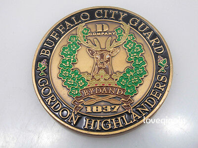 BUFFALO CITY GUARD GORDON HIGHLANDERS COMPANY BYDAND CHALLENGE COIN](Party City Buffalo)