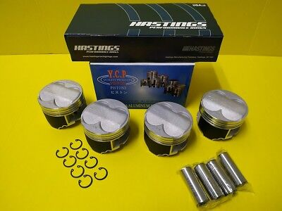 84MM YCP B20 High Compression Full Floating Pistons & Racing Rings Swap B18 B16