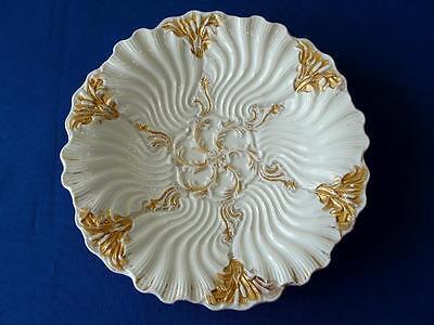Gorgeous Meissen Porcelain Oyster Plate w/ Heavy Gold Embellishments