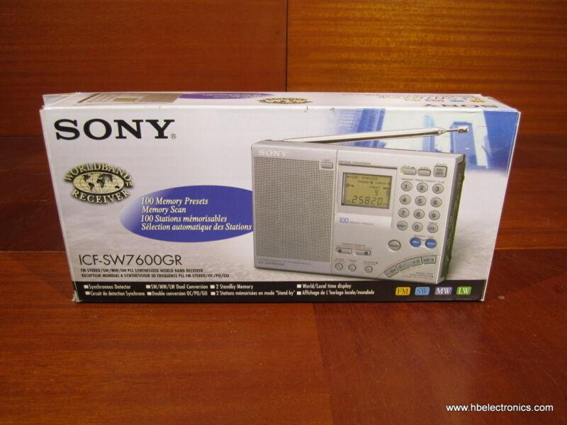 New Sony ICF-SW7600GR FM/MW/LW/Shortwave World Band Receiver