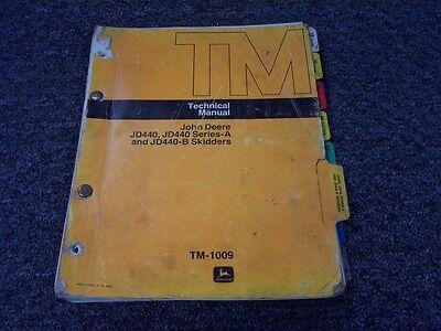 John Deere 440 440a 440b Log Cable Skidder Shop Service Repair Manual Tm1009