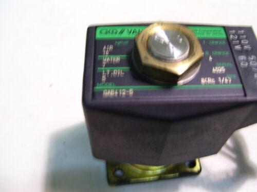 CKD GAB412-5 SOLENOID VALVE PILOT ASSEMBLY 120VAC P3980