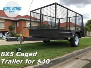 $40 - 8x5 Caged Trailer Rental - Heaps Available - Hire now!!!