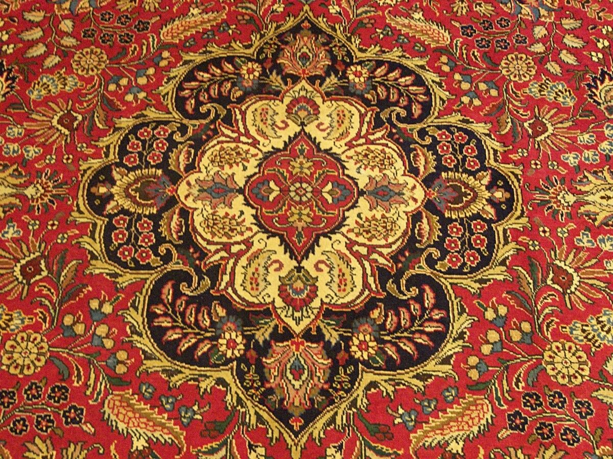 9.8 X 13 Handmade High Quality SIGNED Antique Persian Tabrizz Rug Fine Soft Wool - $1,900.00