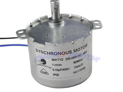 50ktyz Ac 220v 1rpm Chancs Small Synchronous Geared Motor 6w Cwccw Low Noise