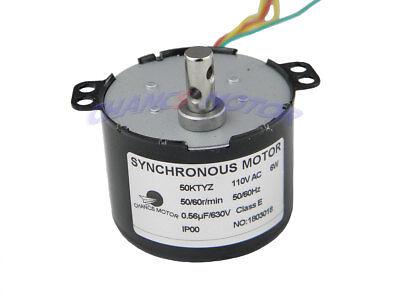 50ktyz Synchronous Motor 5060rpm 110v 6w Torque 1.4kg.cm Small Gear Ac Motor