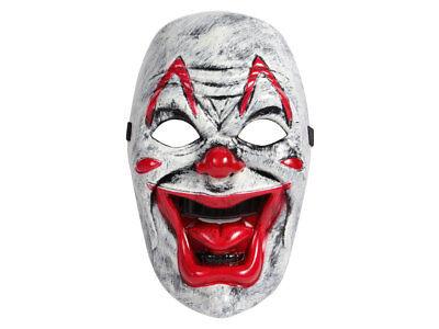 Maske Horror Clown Blut Gruselmaske Angst rote Lippen Falten Zähne Halloween