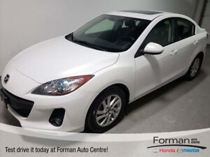 2013 Mazda Mazda3 GSL-SKY | Htd Leather | Cruise | AC | PW | Loc