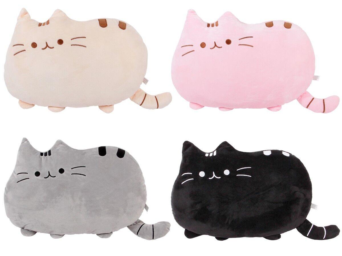 Plüschtier Katze Emoticon Kissen Anime Deko-Kissen Kuscheltier 40 x 30 cm