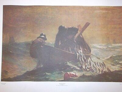 Winslow Homer - THE HERRING NET 1885 Litho in USA