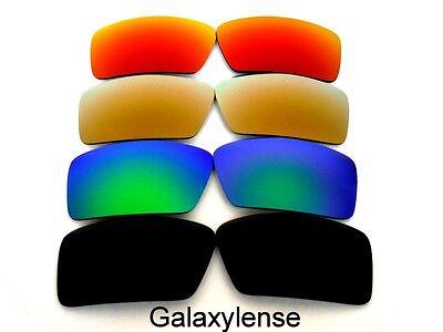 Ersatzgläser für Oakley Augenklappe 1&2 Sonnenbrille Schwarz, Grün, Gold und Rot ()