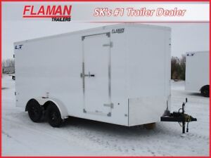 Royal Lightning 7'x16' Cargo Trailer - Barn Doors, New V-Nose!