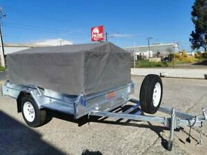 7x5ft BRAND NEW GALVANISED BOX TRAILER w/ SPARE & CANVAS COVER Wingfield Port Adelaide Area Preview