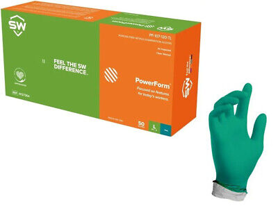 Sw Teal Nitrile Latex-free Heavy Duty Gloves 6.2mil Thick 50box