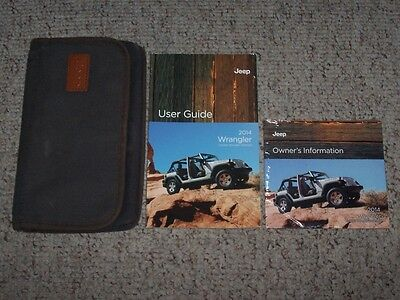 2014 Jeep Wrangler Owner Operator User Manual Sport Unlimited Sahara Rubicon