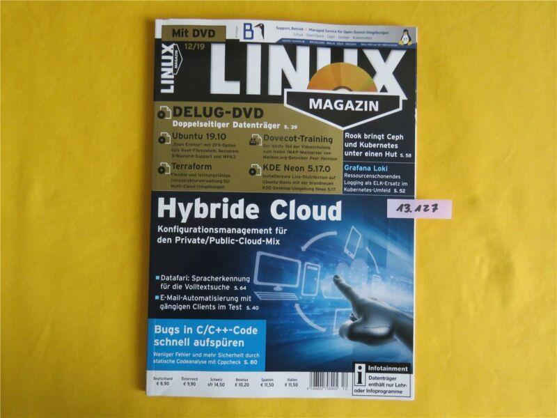 LINUX Magazin 12 / 2019 - mit Heft - DVD - Hybride Cloud - NEU