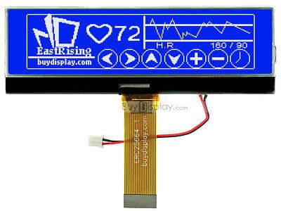 3.8blue 256x64 Graphic Lcd Module Displaywuc1698 Controllertutorial