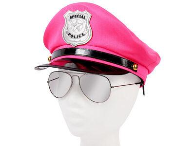 Damen Polizei Set Uniform (KV-110) mit Pilotenbrille und Polizeimütze von Alsino ()
