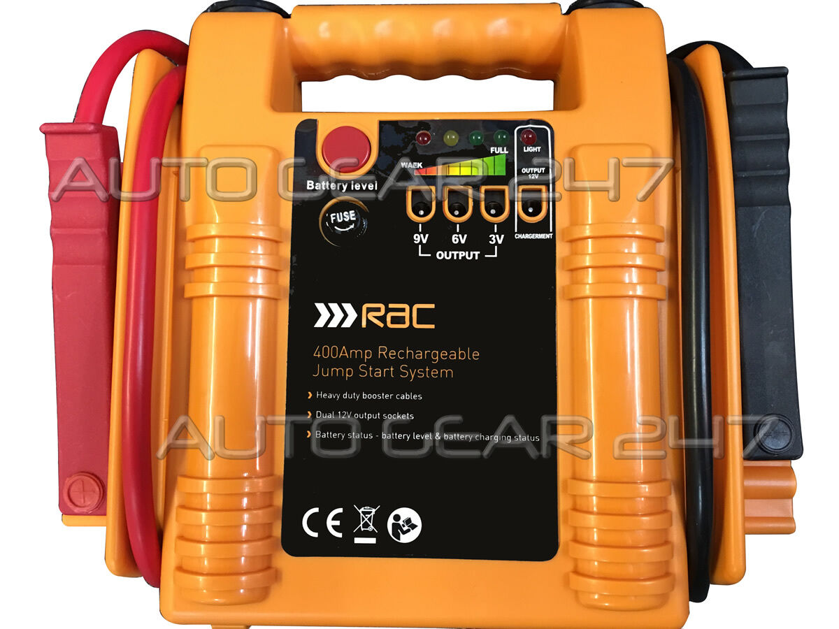 jump start battery rac 400 amp rechargeable car battery booster jump start 11108