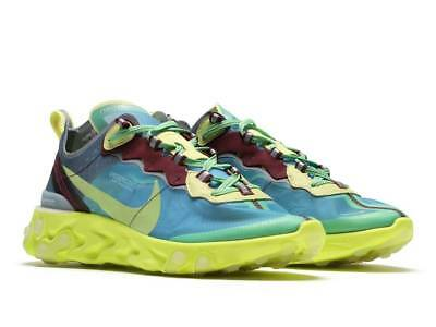 UNDERCOVER x Nike React Element 87 BQ2718-400 US 10 Lakeside Electric Yellow