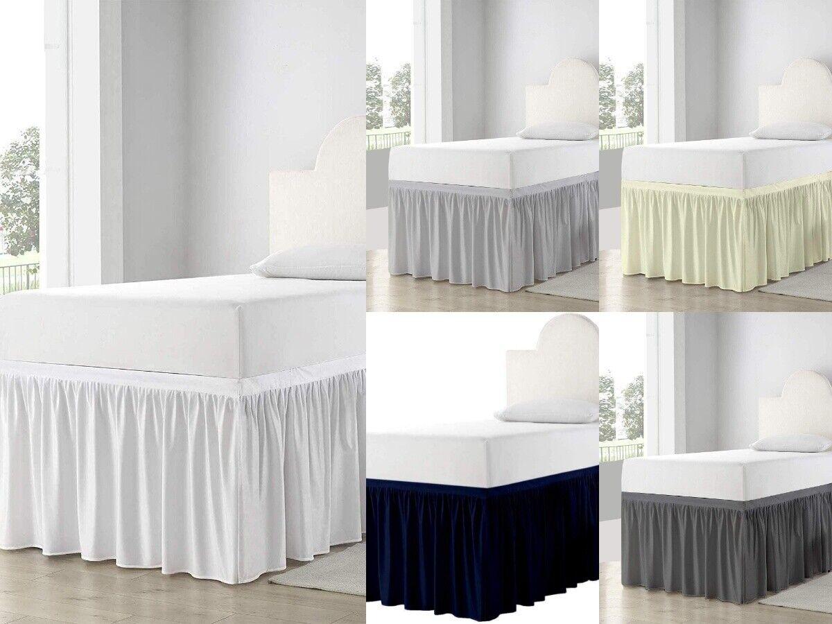 Bed Skirts Dorm Room, Ruffle Dorm Bedskirt Twin-XL All Drop