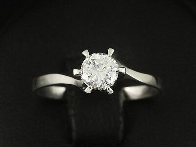Klassischer Brillant Solitär Ring 0,49 ct. TW/VSI   2,2g 585/- Weißgold