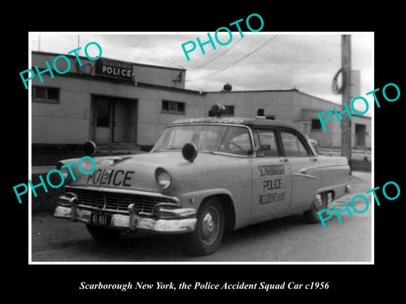 OLD 8x6 HISTORIC PHOTO OF SCARBOROUGH NEW YORK THE POLICE SQUAD CAR c1956