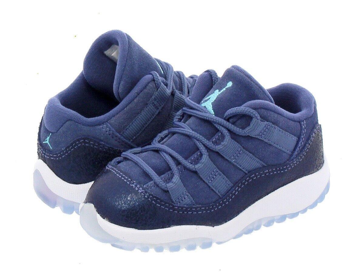 pretty nice bf1d3 b5fc5 JORDAN 11 RETRO LOW BLUE MOON/POLARIZED BLUE-BINARY Toddler
