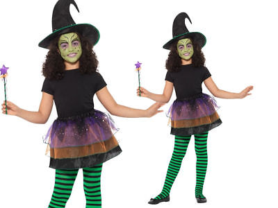 Insant Kit Pretty Witch Costume Girls Halloween Witches Fancy Dress Outfit - Willy Wonka Female Costume
