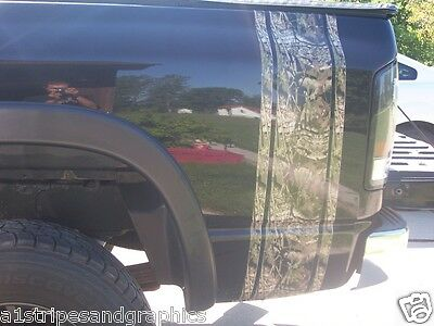 Camo Bed side stripe Graphics Silverado Ram F250 F150 F350 Mossy Oak real tree