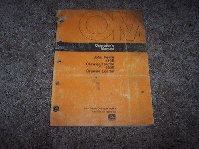 John Deere 450e 455e Crawler Loader Tractor Owner Operator Manual Omt81347