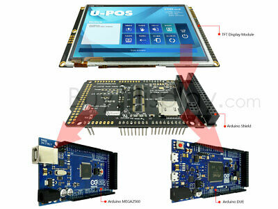 5 Tft Lcd Capacitive Touchscreen Wshield For Arduino Due Mega2560 Uno 480x272