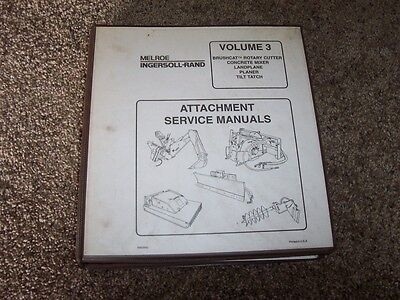Bobcat Planer Skid Steer Attachment Shop Service Repair Manual Binder
