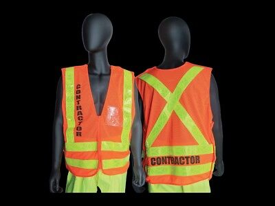 Nycta - Mta - Nyc Transit - Style - Breakaway Contractor Safety Vest