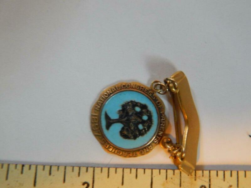 10k Gold, National Congress of Parents and Teachers Lapel Pin, Enameled, VG!