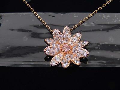 Swarovski Women's Eternal Flower Pendant Necklace Rose Gold Tone 5540973