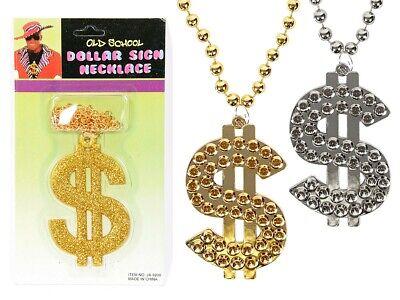 Dollar Kette Pimp Halskette Plastik Goldkette Silberkette Bling - Gangster Ketten