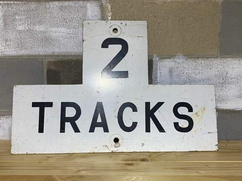 2Tracks Railroad Sign Steel (27x18)