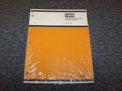 Case 35c 35c Wl Backhoe Loader Parts Catalog Manual For 850c W14 Crawler