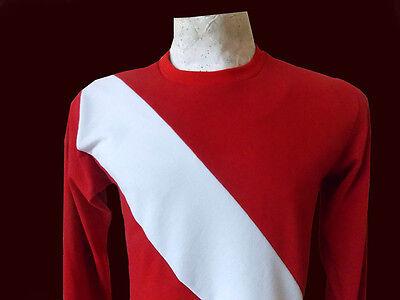 DIEGO MARADONA Debut ARGENTINOS JUNIORS 1976 - Vintage JERSEY Cotton Replica image